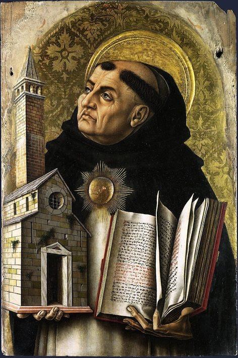 من ويكيبيديا، الموسوعة الحرة توما الأكويني (راهب دومينيكاني) (بالإيطالية: Tommaso d'Aquino) (1225 - 1274) قسيس وقديس كاثوليكي إيطالي من الرهبانية الدومينيكانية، وفيلسوف ولاهوتي مؤثر ضمن تقليد الفلسفة المدرسية. أحد معلمي الكنيسة الثلاثة والثلاثين، ويعرف بالعالم الملائكي (Doctor Angelicus) والعالم المحيط (Doctor Universalis). عادة ما يُشار إليه باسم توما، والأكويني نسبته إلى محل إقامته في أكوين. كان أحد الشخصيات المؤثرة في مذهب اللاهوت الطبيعي، وهو أبو المدرسة التوماوية في الفلسفة واللاهوت. تأثيره واسع على الفلسفة الغربية، وكثيرٌ من أفكار الفلسفة الغربية الحديثة إما ثورة ضد أفكاره أو اتفاقٌ معها، خصوصاً في مسائل الأخلاق والقانون الطبيعي ونظرية السياسة. يعتبر الأكويني المدرس المثالي لمن يدرسون ليكونوا قسساً في الكنيسة الكاثوليكية.[1] ويُعرف بعمليه خلاصة اللاهوت والخلق والخالق. يعتبره العديد من المسيحيين فيلسوف الكنيسة الأعظم لذلك تُسمى باسمه العديد من المؤسسات التعليمية.