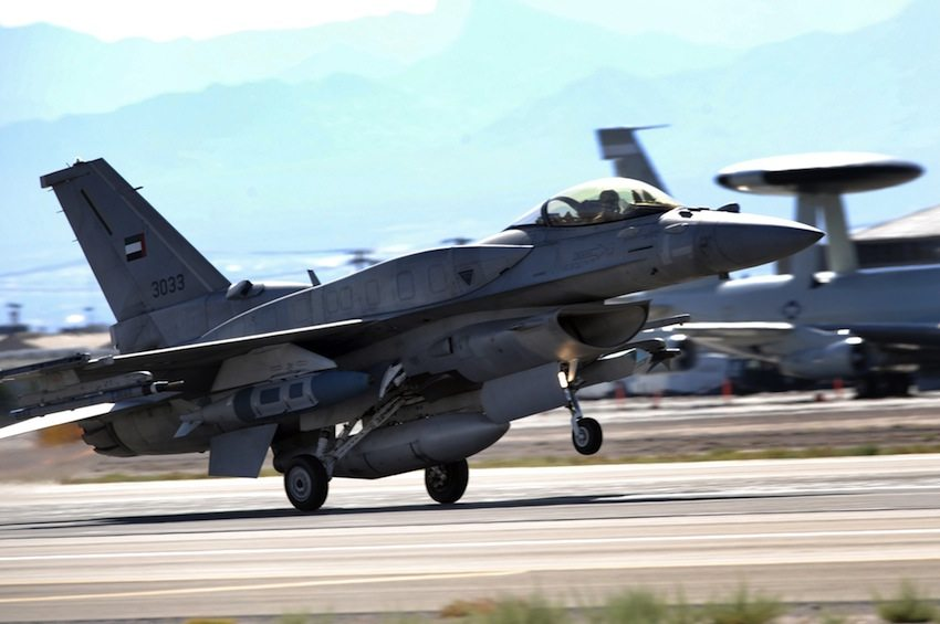 A Emiri F-16E Desert Falcon during a training exercise in the U.S. Air Force photo