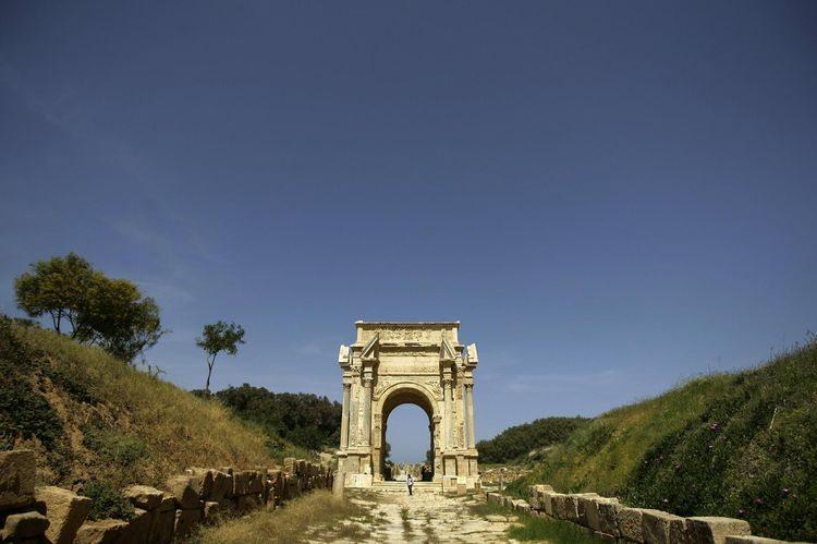 L'arc de triomphe érigé à la gloire de Septime Sévère. Photo Joseph Eid. AFP