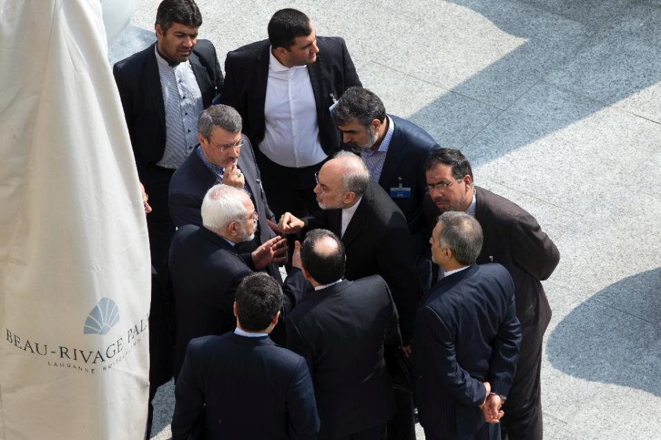 """صالحي في """"جدل حاد"""" مع وزير الخارجية جواد ظريف أثناء مفاوضات لوزان"""