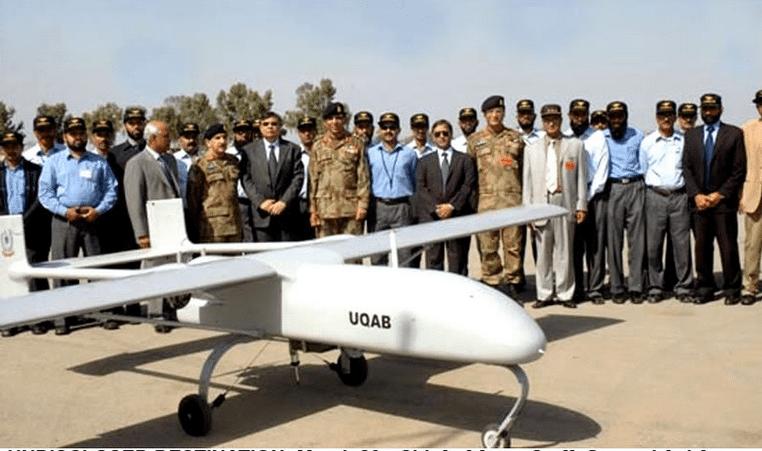 """في يوليو ٢٠١١، نشرت باكستان ، أول سرب طائرات بدون طيّار، فئة """"عقاب""""، لسلاح البحرية الباكستانية."""