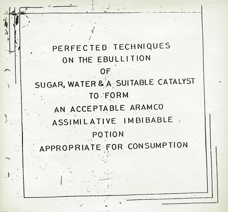 The title page of a 31-sheet mimeographed pamphlet handed out to Westen employees of the Arab American Oil Co (ARAMCO), circa 1950.