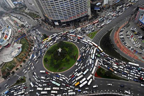 بسبب الإزدحام، السرعة في بكين لا تزيد على ١٥ كلم بالساعة