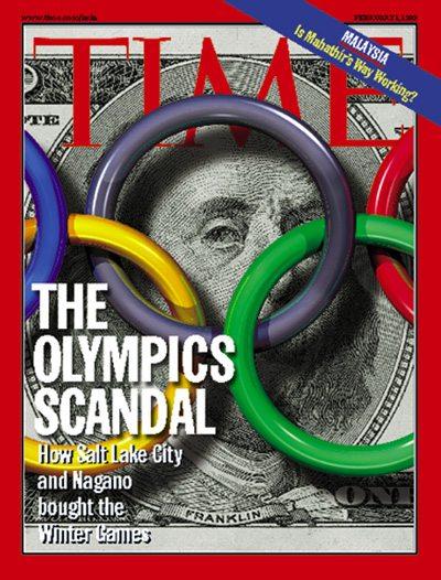 """اللجنة الأولمبية الدولية أيضاً يشوبها الفساد: غلاف مجلة """"تايم"""" عن فضيحة شراء ألعاب """"سولت ليك سيتي!"""