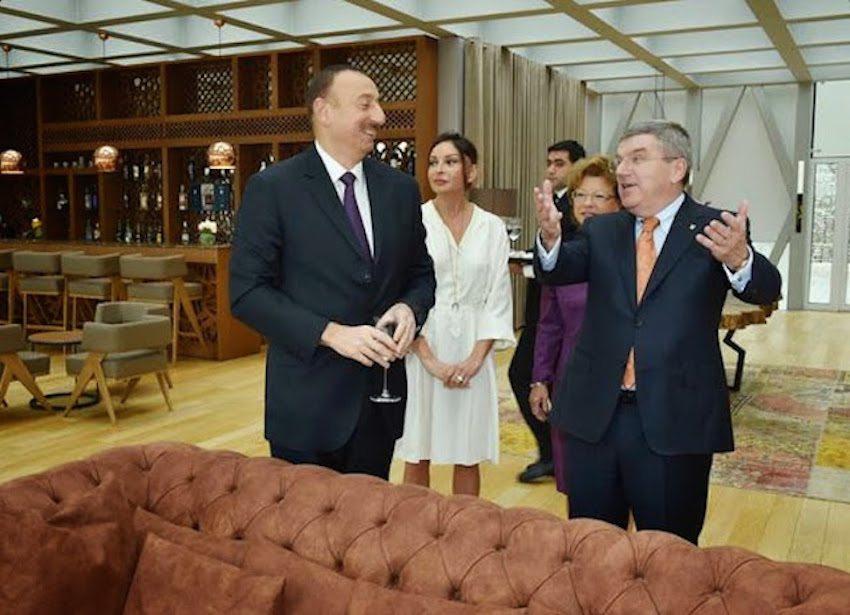 IOC President Thomas Bach with his billionaire pals