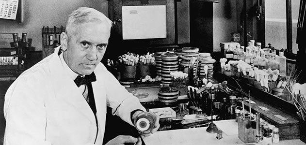 ألكسندر فلمنج Alexander Fleming 1881 - 1955. عالم اسكتلندي في علم الأحياء و الصيدلة و شخصية هامة في التاريخ الإنساني، لأنه انقذ حياة ملايين الارواح وسوف يفعل ذلك في المستقبل بأكتشافه المضاد الحيوي الشهير، البنسلين penicillin ، المشتق من العفن الفطري بنسيليوم نوتاتوم Penicillium notatum عام 1928. حصل على جائزة نوبل في الطب او الفيزيولوجيا عام 1945