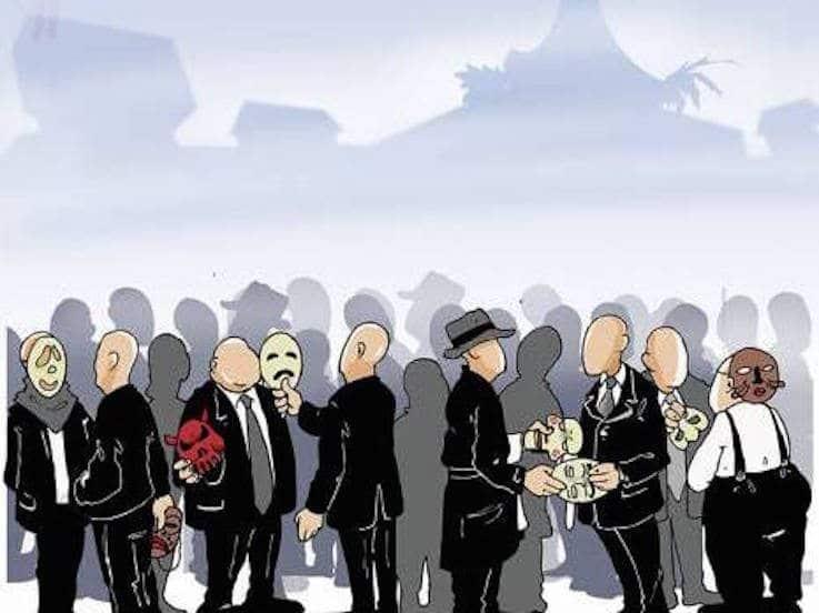 """كاريكاتور نشرتها """"الوطن"""" الجزائرية: هل هذه نهاية """"الشرطة السياسية""""؟"""