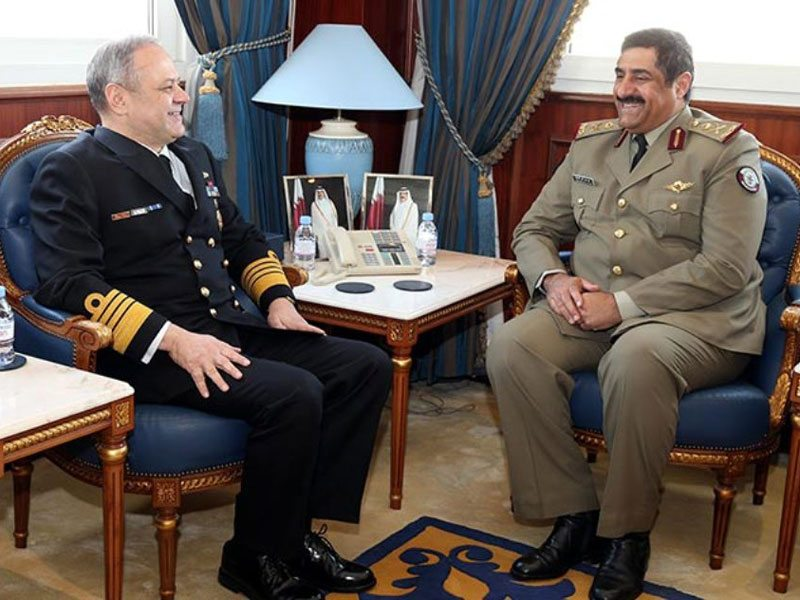 Qatar Minister of State for Defense Affairs Meets Commander of Turkish Naval Forces