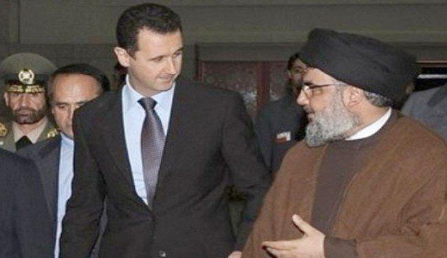 """نصرالله به بوگدانوف: اسد """"خط قرمز"""" است"""