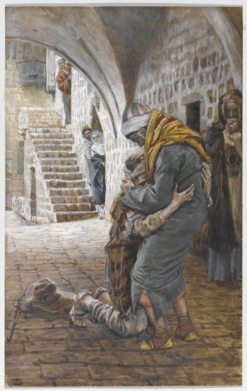 """لوحة """"عودة الإين الضال"""" لجيمس تيسّو، متحف بروكلين"""
