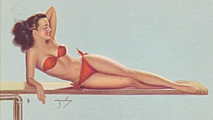 في 3 يونيو 1946 أطلق مصمم الأزياء لوي ريار مايوه من قطعتين كان بمثابة قنبلة إلى حد انه اختار له تسمية «بيكيني» نسبة للأرخبيل الذي كان الأميركيون يُجرون فيه تجاربهم الذرية!