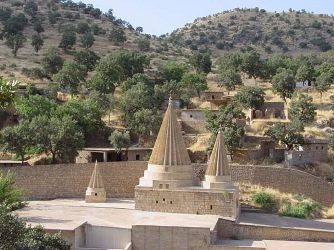 Unreached by ISIS, the holiest Yazidi shrine of Sheikh Adi at Lalish