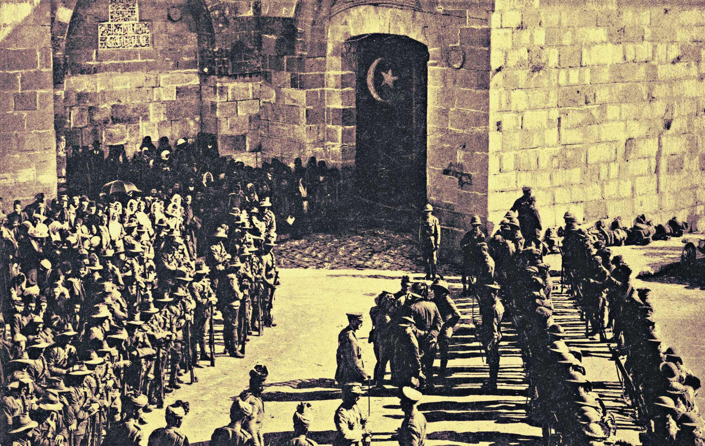 لجنرال البريطاني أللنبي يدخل القدس في سنة ١٩١٧