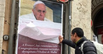 On Roman posters, papal blowback, and parallels with Trump