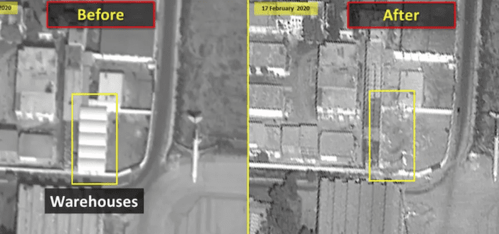 Airstrikes destroy IRGC Quds Force HQ, warehouse at Damascus airport